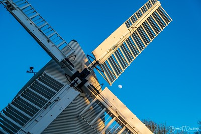 Oldland Mill and the rising moon