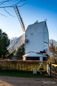 A quarter rear view of Oldland Mill