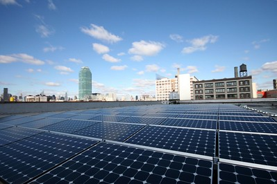 PV system on rooftop in Queens, NY
