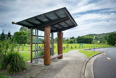 Recycled Car Windows Turned into a Bus Station