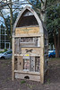 Bug hotel in Claremount Gardens, Kingston upon Thames, England