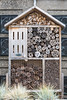 Insect hotel by the roof terrace of de Bijenkorf department store in Amsterdam