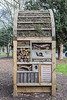 Insect hotel in Claremount Gardens, Kingston upon Thames, UK