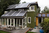 Energy efficient home with photovoltaic panels as part of a Stavoren sustainable development