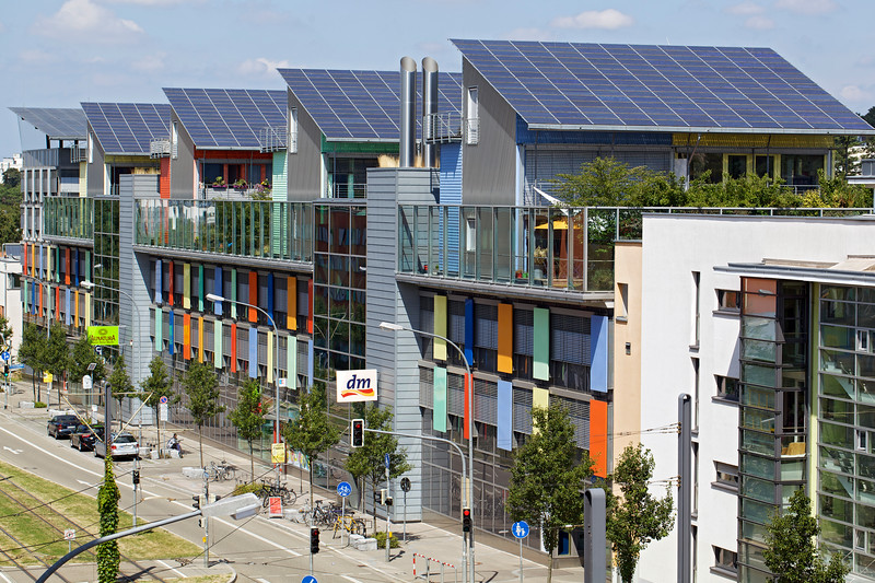 Sustainable building development in Vauban, near Freiburg, Germany