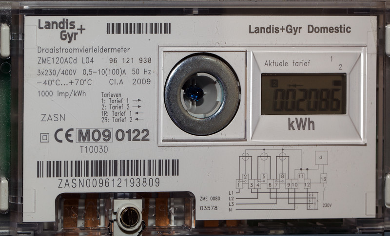 Stavoren electricity meter amount consumed 100810 ©RLLord 452 smg