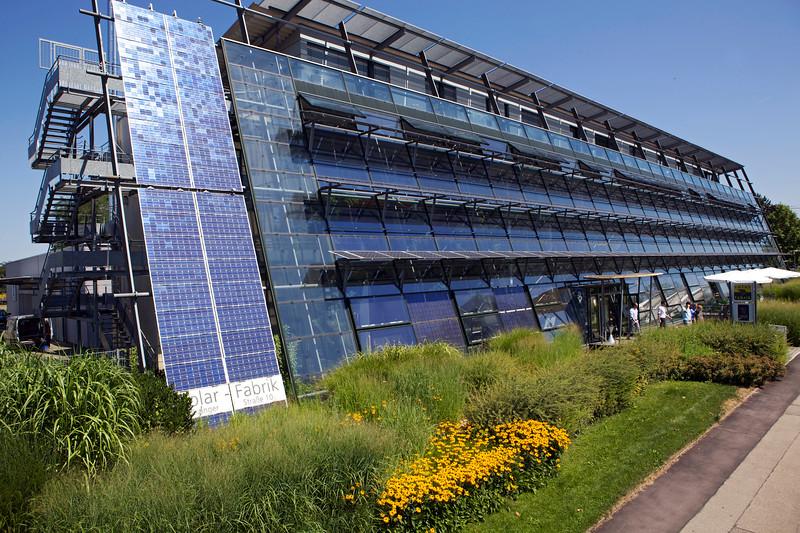 Solar Fabrik building in Haid Industrial Park, Freiburg, Germany