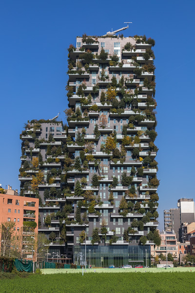 Bosco Verticale (Vertical Forest) apartment building in Milan, Italy<br /> <br /> File No. 291016 0712<br /> <br /> ©RLLord<br /> sealord@me.com