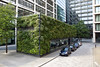 Green walls of an office building in Pemberton Square, London, England on the 19th August 2012