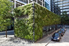 Green wall of office building in Pemberton Square in the City of London