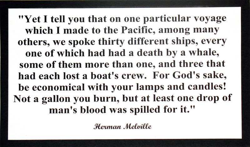 Herman Melville quote at Sag Harbour Whaling Museum, Long Island, New York, USA