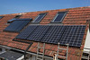solar hot water evacuated tubes & photovoltaic panels Gavin Lanoe 210510 ©RLLord 9519 smg