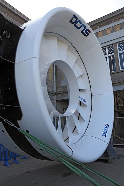 OpenHydro DCNS marine turbine at Cite de la Mer 100414 ©RLLord 0446 smg
