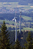 two wind turbines in Forest above Freiburg 040813 ©RLLord 8951 v smg