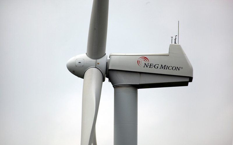 """An N.E.G Micon wind turbine nacelle and turbine blades in the province of Friesland, The Netherlands on 10 August 2010.<br /> <br /> File No. 100810 493 <br />  ©RLLord All Rights Reserved<br /> Sustainableguernsey@gmail.com<br /> <a href=""""http://www.sustainableguernsey.info/blog/"""">http://www.sustainableguernsey.info/blog/</a>"""