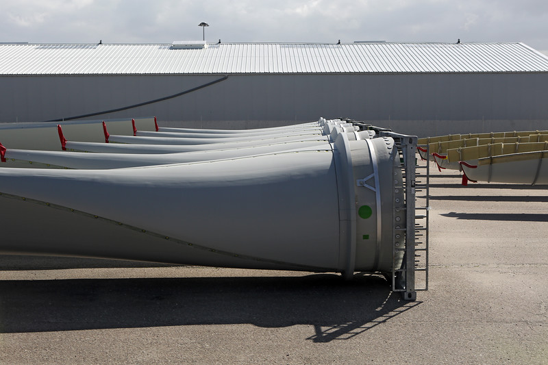 wind turbine blades Cherbourg harbour 090414 ©RLLord 0289 smg
