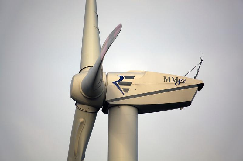 REpower Systems 2 MW wind turbine near Goch, Germany