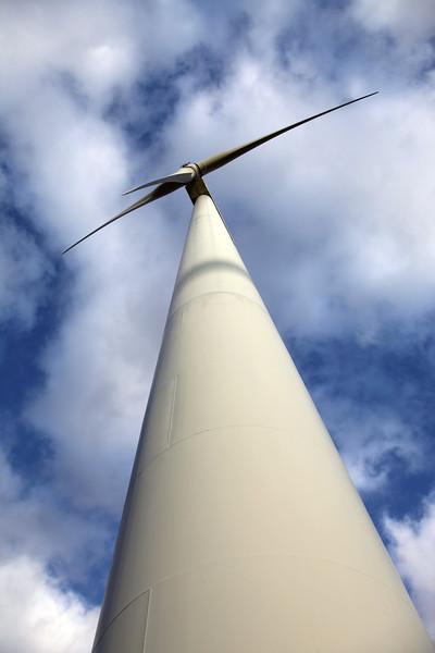 A wind turbine near Goch, Germany