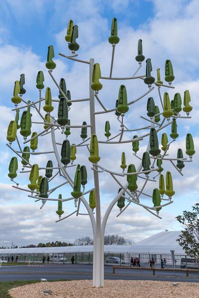 L'abre a vent generating electricity at the COP21 venue in Le Bourget