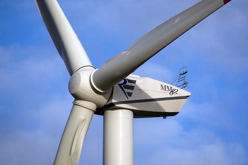 An MM82 REpower wind turbine near Goch, Germany