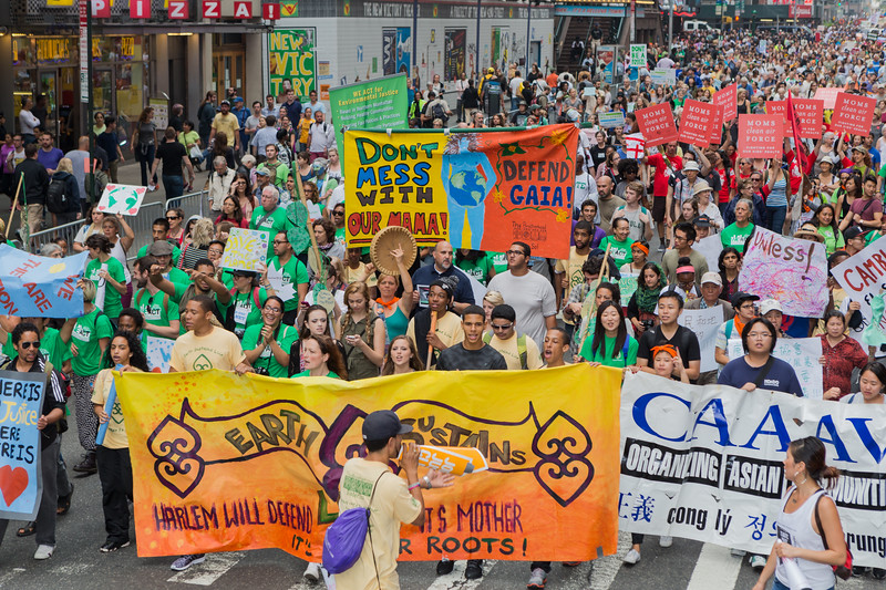 People's Climate March on 42nd Street, New York City