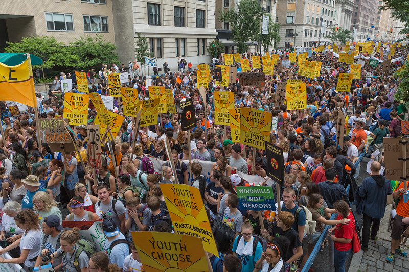 People's Climate March, Central Park West, New York City