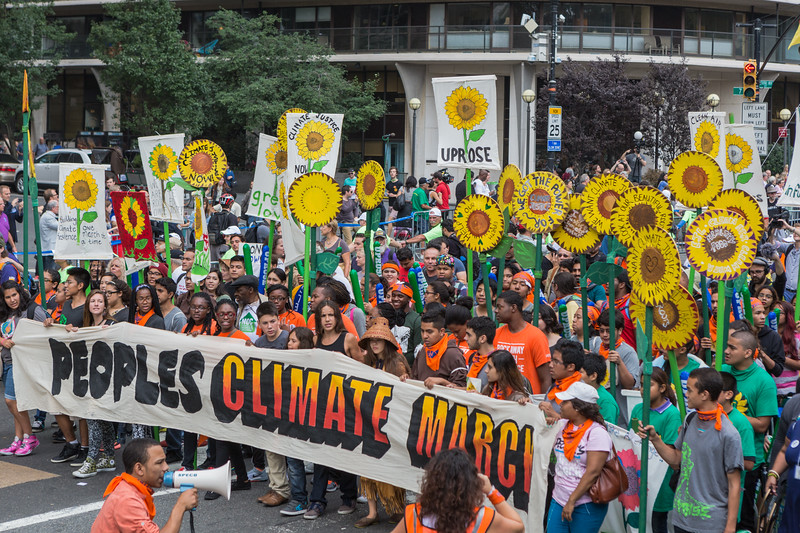 People's Climate March on Central Park South, New York City