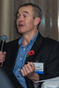 Glyn Vickers of Schneider Electrical Ltd asks the panel a question