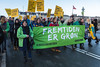 Copenhagen climate march on Dronning Louises Bro Greenpeace The Future is Green 291115 ©RLLord 8173 smg-2
