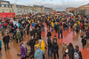 Copenhagen climate march crowds gather at red square Rød firkant Superkilen 291115 ©RLLord 7986 smg