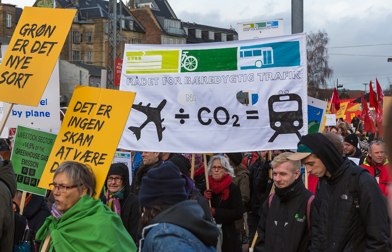 Copenhagen climate march Rådet for bæredygtig trafik council for sustainable traffic 291115 ©RLLord smg