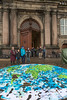 Copenhagen climate march earth puzzle Christiansborg v 291115 ©RLLord 8273 smg