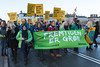Copenhagen climate march on Dronning Louises Bro Greenpeace The Future is Green 291115 ©RLLord 8170 smg
