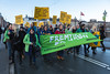 Copenhagen climate march on Dronning Louises Bro Greenpeace The Future is Green 291115 ©RLLord 8171 smg