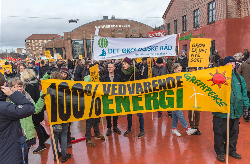 Copenhagen climate march Red Square 100% renewable energy 291115 ©RLLord  smg