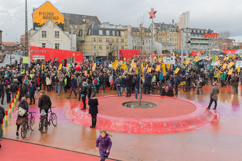 Copenhagen climate march Red Square Nørrebrogade 291115 ©RLLord 7995 smg