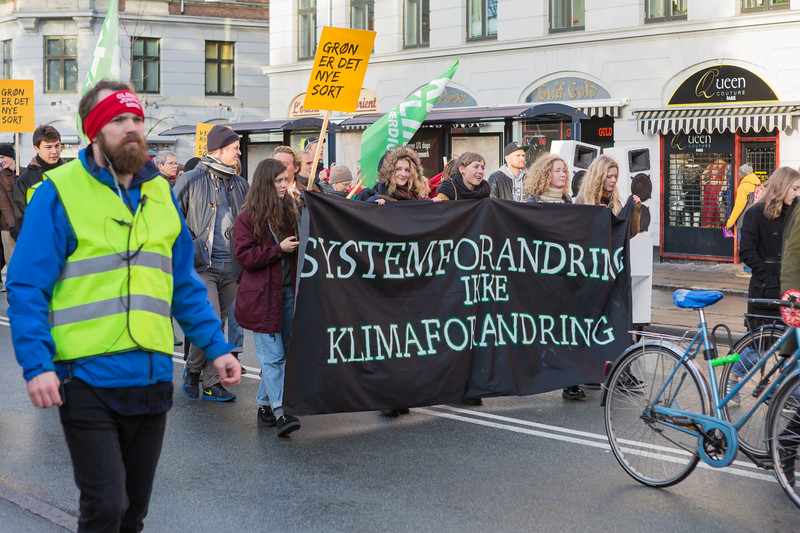 Copenhagen climate march System Change banner 291115 ©RLLord 8136 smg