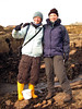 Alice Lawrence and Vicki Howe on the PMNHS sea shore field trip at Cullercoats