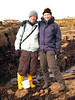Alice Lawrence and Vicki Howe on the PMNHS field trip at Cullercoats