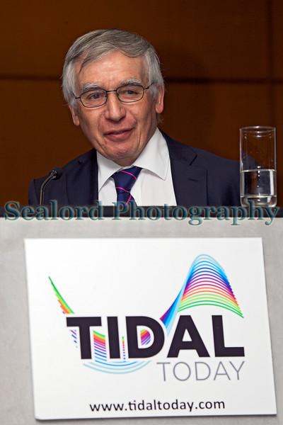 Marine engineer Peter Fraenkel speaks at marine tidal energy conference on 26 November 2013