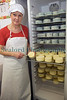 "Fenella Maddison who produces Fort Grey cheese spiking soft cheese in her processing room in Guernsey on 16 November 2009.<br /> <br /> All Rights Reserved©RLLord<br /> <br /> File No. 161109<br /> <br /> <a href=""http://www.sustainableguernsey.info/blog/"">http://www.sustainableguernsey.info/blog/</a><br /> <br /> sustainableguernsey@gmail.com"