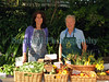 The Guernsey Climate Action Network (G-CAN) stall set-up at the Sausmarez Manor Farmers' Market in Guernsey on the 20 September 2008. The fresh, locally grown vegetables are supplied by Guernsey Organic Growers. The G-CAN stall sells also freshly baked Senners Bread.<br /> File No. 200908 788<br /> RLLord<br /> fishinfo@guernsey.net
