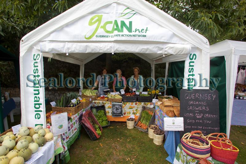 G-CAN stall Sausmarez Manor farmers' market 290809