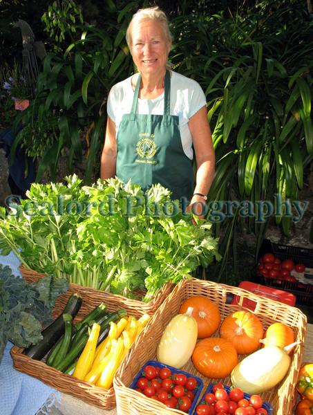 Anne Sandwith GCAN stall Sausmarez Manor farmers Market 270908 1285 RLLord smg