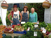 Guernsey Climate Action Network's (G-CAN) farmers' market stall at Sausmarez Manor, Guernsey on 31 May 2008.  We sell organic vegetables supplied by Guernsey Organic Growers.  On 31 May 2008 we sold organic carrots, radishes, fennel, chard, parsley, spring onions, courgettes, broad beans, kohlrabi, strawberries, mange tout, peas, potatoes, and a variety of herbs.  We sell also bread and Guernsey gauche and Chelsea buns supplied by Senner's bakery in St. Martin.<br /> File No. 310508 4858<br /> ©RLLord 2008<br /> fishinfo@guernsey.net