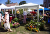 Sausmarez Manor farmers' market stalls on 26 June 2010
