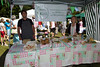 Peter Roffey selling Mrs P's food at the Sausmarez Manor farmers' market