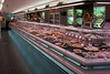 Modern and attractive fish display at Vishandel Gamba in Arnhem, The Netherlands.  Photographed in March 1992. Dutch seafood shops  prepare and sell a variety of prepared seafoods including seafood salads and fried fish.<br /> File No. 0392 10