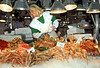 Shellfish on display at a Barcelona seafood shop in April 1990