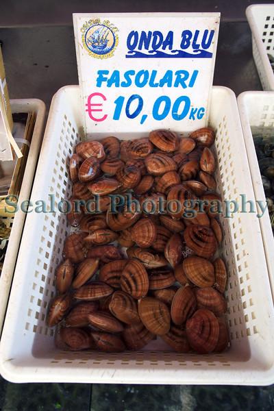 Siracusa fish market fasolari Callista chione clams 010410 ©RLLord 1197 smg